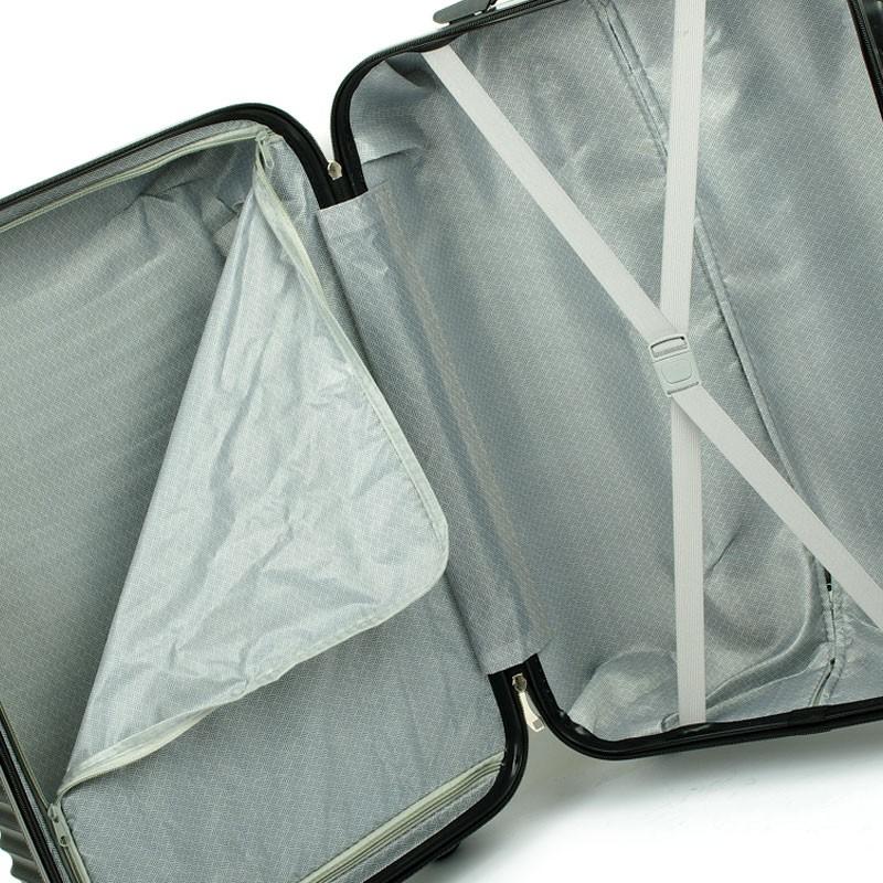 6ffb7779d803d ... Duża lekka walizka na czterech kółkach ABS prążki