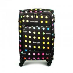 5017 walizka z nadrukiem w kropki średnia