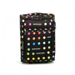 5017 walizka walizka kabinowa z nadrukiem w kropki.