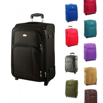 91074 duże walizki na kółkach materiałowe