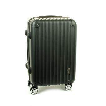 622SU Duża walizka podróżna ABS na czterech kółkach czarna