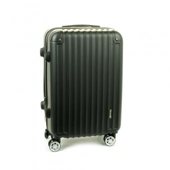 622SU Średnia walizka ABS na czterech kółkach czarna