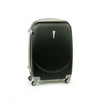 606 Średnia walizka podróżna na kółkach ABS czarna
