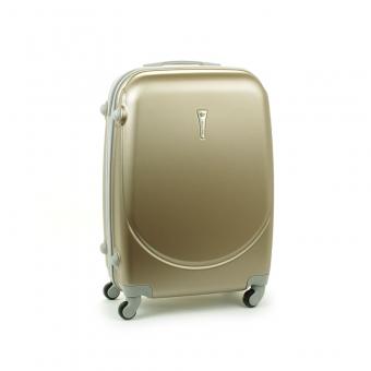 606 Duża walizka podróżna ABS beżowa