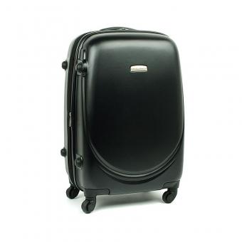 8821 David Jones Mała walizka podróżna ABS z zamkiem TSA czarna