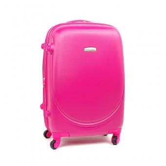 8821 David Jones Mała walizka podróżna ABS z zamkiem TSA różowa