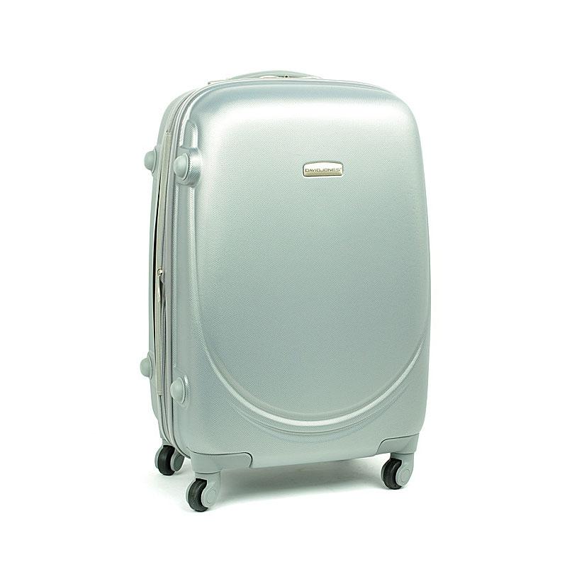 8821 David Jones Mała walizka podróżna ABS z zamkiem TSA srebrna