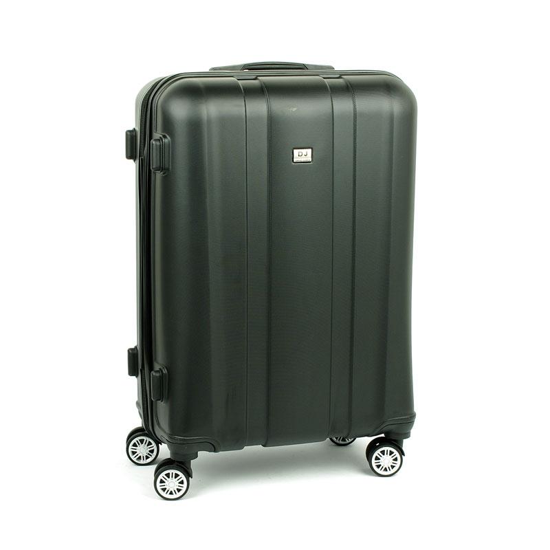 1028 David Jones Duża walizka podróżna na kółkach ABS czarna