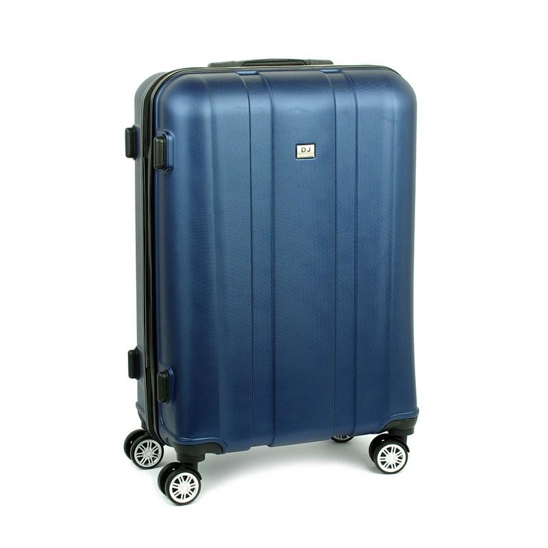 1028 David Jones Duża walizka podróżna na kółkach ABS granatowa
