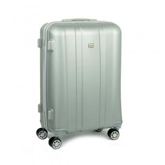 1028 David Jones Duża walizka podróżna na kółkach ABS srebrna