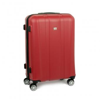 1028 David Jones Mała walizka kabinowa ABS czerwona