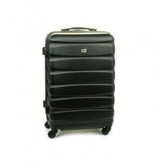 1030 David Jones Średnia walizka podróżna na kółkach ABS czarna