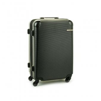 1013 David Jones Średnia walizka podróżna z zamkiem TSA czarna
