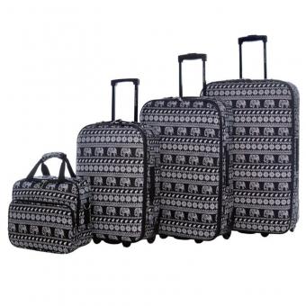 1004 Duże walizki podróżne lekkie David Jones motyw słonie