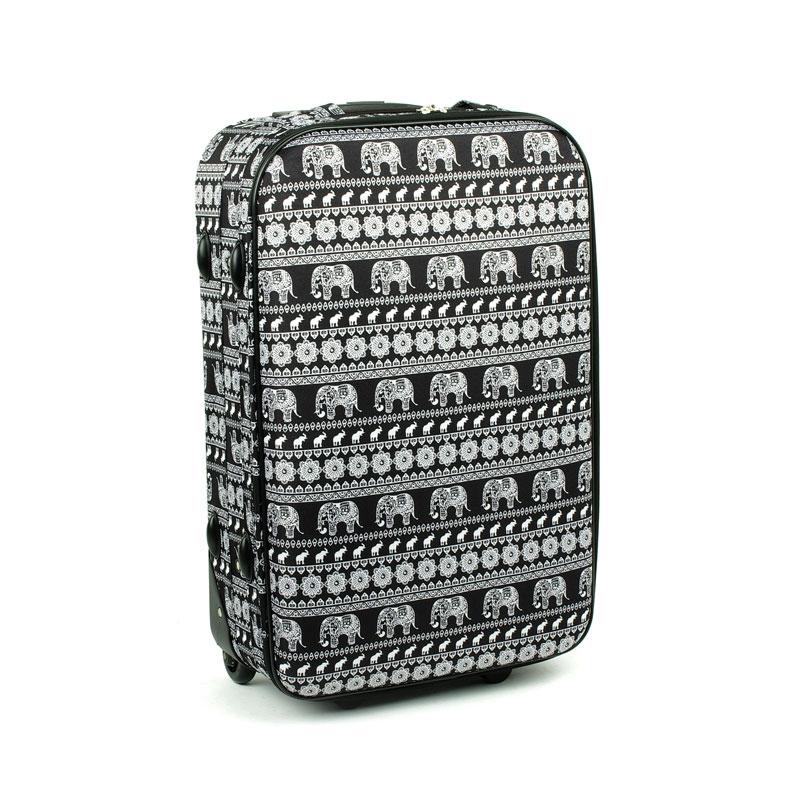 1004 Średnia walizka podróżna lekka David Jones z motywem słoni