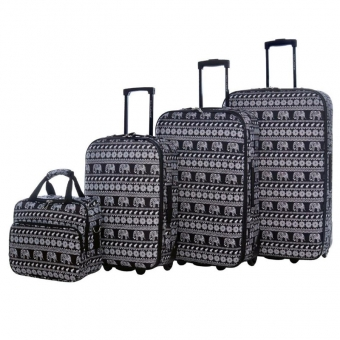 1004 Średnie walizki podróżne lekkie David Jones słonie