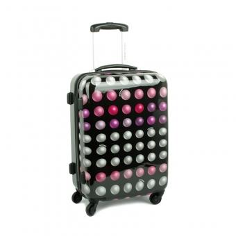 2021 Duża walizka podróżna na kółkach - David Jones w kropki