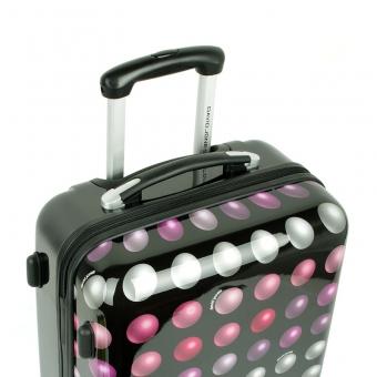 2021 Średnia walizka podróżna w kropy - David Jones