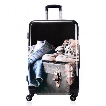 2052 Mała walizka podróżna z nadrukiem polikarbon - David Jones