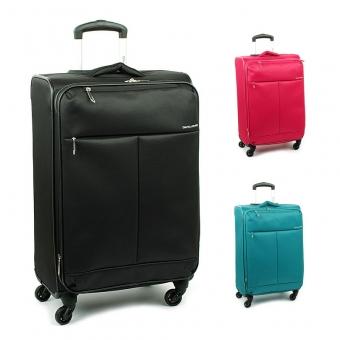 5043 Duże lekkie walizki podróżne na kółkach - David Jones materiałowe