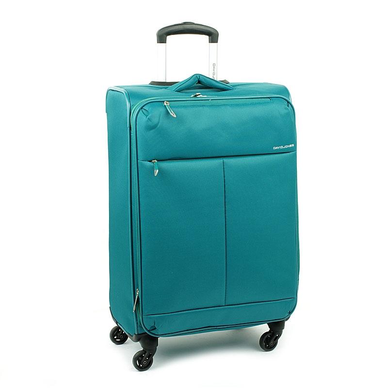 5043 Duża lekka walizka podróżna na kółkach - David Jones turkusowa
