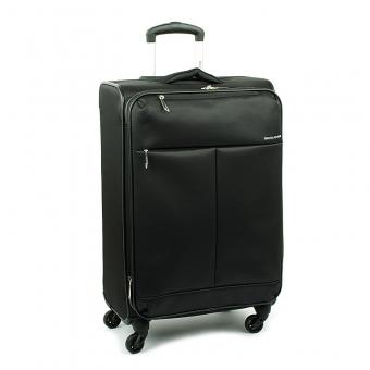 5043 Średnia lekka walizka podróżna na kółkach - David Jones czarna