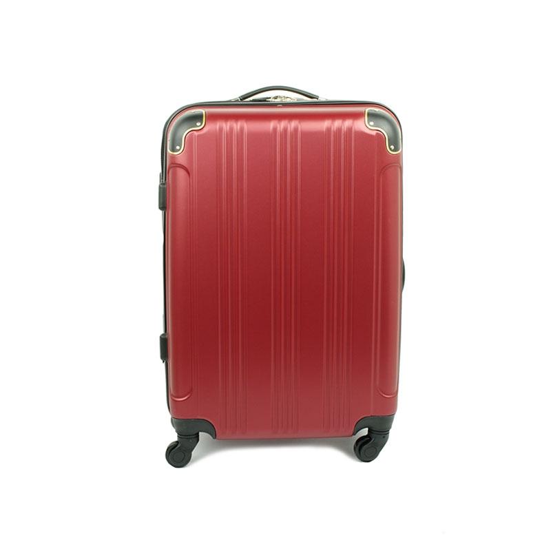 40106 Średnia walizka podróżna na kółkach ABS - Madisson czerwona