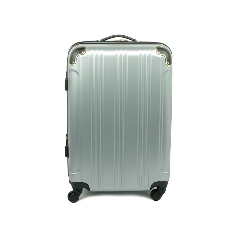 40106 Średnia walizka podróżna na kółkach ABS - Madisson srebrna