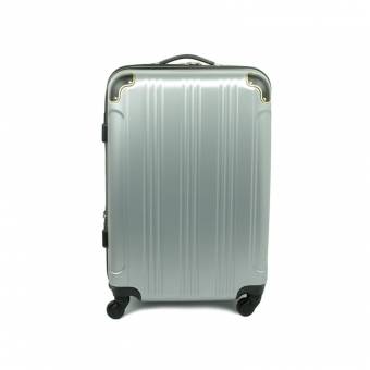 40106 Mała walizka podróżna na kółkach ABS - Madisson srebrna