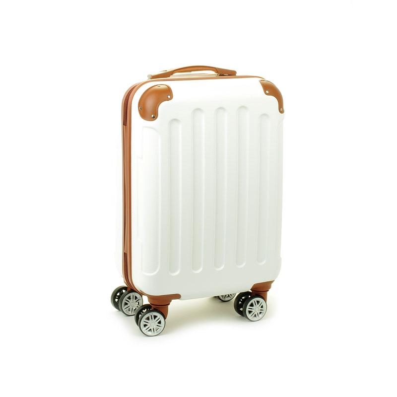 88603 Mała walizka podróżna kabinowa ABS - Madisson biała