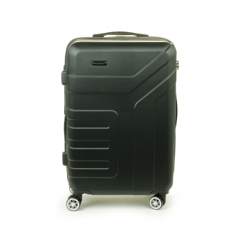 87104 Duża walizka podróżna na kółkach ABS - Madisson czarna