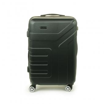87104 Średnia walizka podróżna na kółkach ABS - Madisson czarna