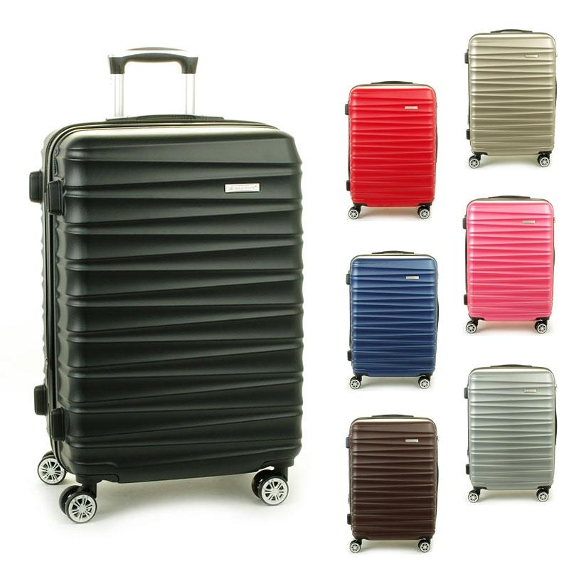 62203 Duże walizki podróżne na kółkach ABS - Madisson