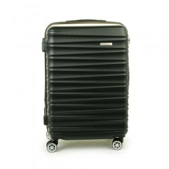 62203 Duża walizka podróżna na kółkach ABS - Madisson czarna