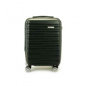 62203 Mała walizka podróżna na 4 kółkach ABS - Madisson czarna