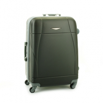 87004 Średnia walizka podróżna ABS na zatrzaski - Madisson stalowa szara