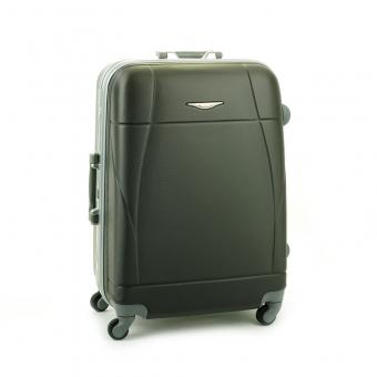 87004 Mała walizka podróżna ABS na zatrzaski - Madisson stalowa szara