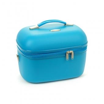 Kuferek na kosmetyki, kosmetyczka podróżna do walizki - Snowball 31935 niebieski