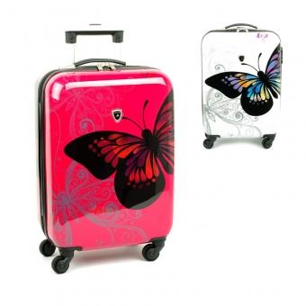 Małe walizki podróżna na kółkach dla dzieci motyle Madisson 16820A