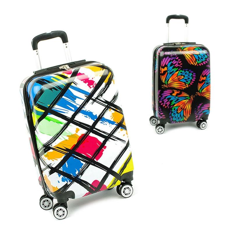 Małe kolorowe walizki na 4 kółkach dla dzieci młodzieżowe 86820F