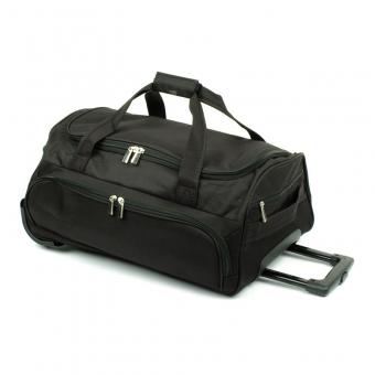 B999 Mała torba podróżna na kółkach miękka - David Jones czarna