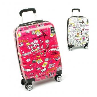 Mała kolorowa walizka na 4 kółkach dla dzieci młodzieżowa 86820G