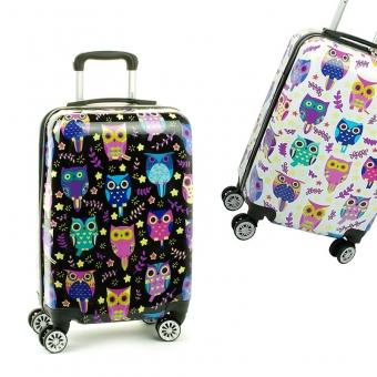 Mała kolorowa walizka na 4 kółkach dla dzieci młodzieżowa 86820N