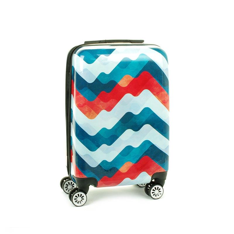 Mała kolorowa walizka na 4 kółkach dla dzieci młodzieżowa 96820T