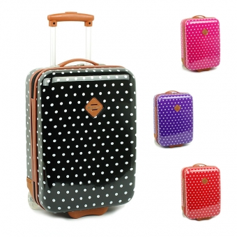 65118 Małe walizki na kółkach dziecięce w kropki - Snowball