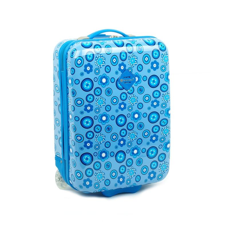 65218 Mała walizka na kółkach dla dzieci - Snowball niebieska