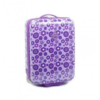 65218 Mała walizka na kółkach dla dzieci - Snowball fioletowa