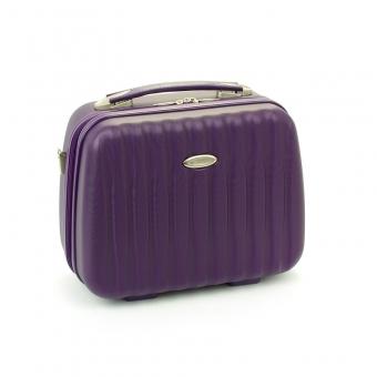 Kuferek na kosmetyki, kosmetyczka podróżna do walizki - Snowball 82535 fioletowa