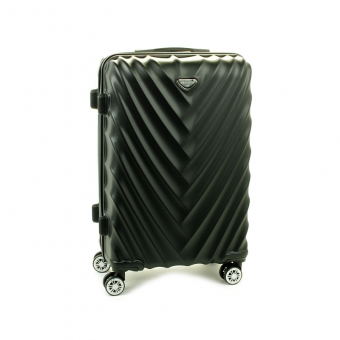 93503 Duża walizka podróżna na kółkach twarda - Madisson czarna