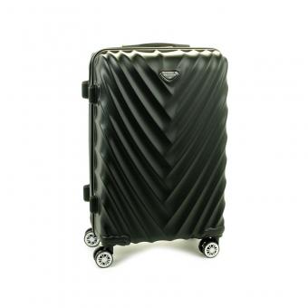 93503 Średnia walizka podróżna na kółkach twarda - Madisson czarna